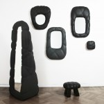Färg & Blanche indents surrounds for Succession mirrors by binding leather