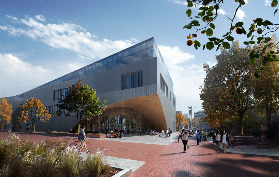 Sn hetta images of new temple university library in for Architecture firms in philadelphia