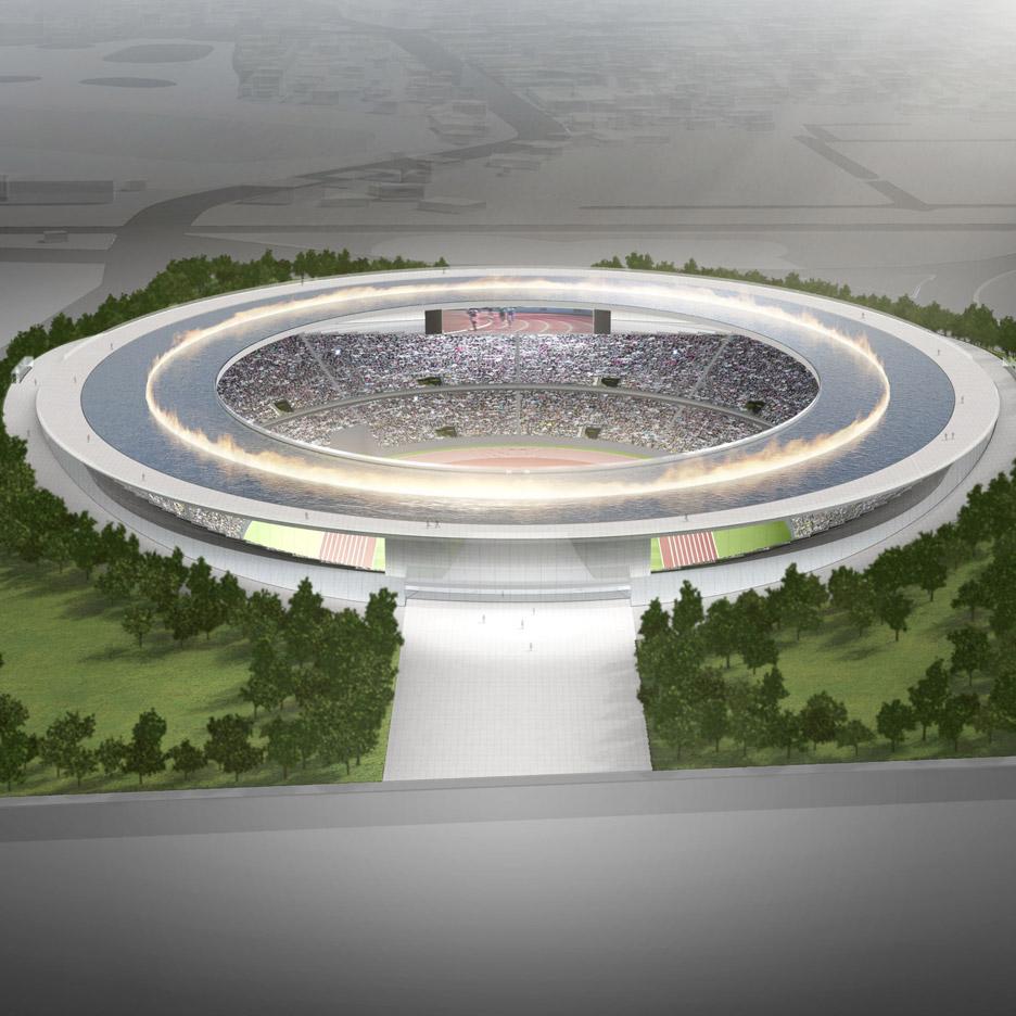 Olympic stadium by Tokujin Yoshioka