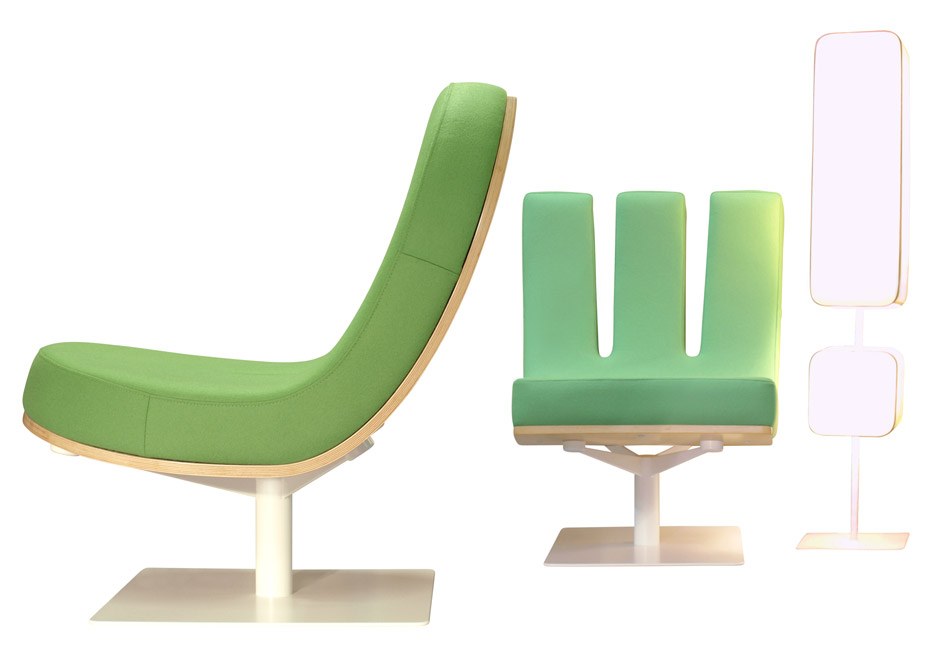 Typographia seating range by Jean Paul Gaultier for Tabisso