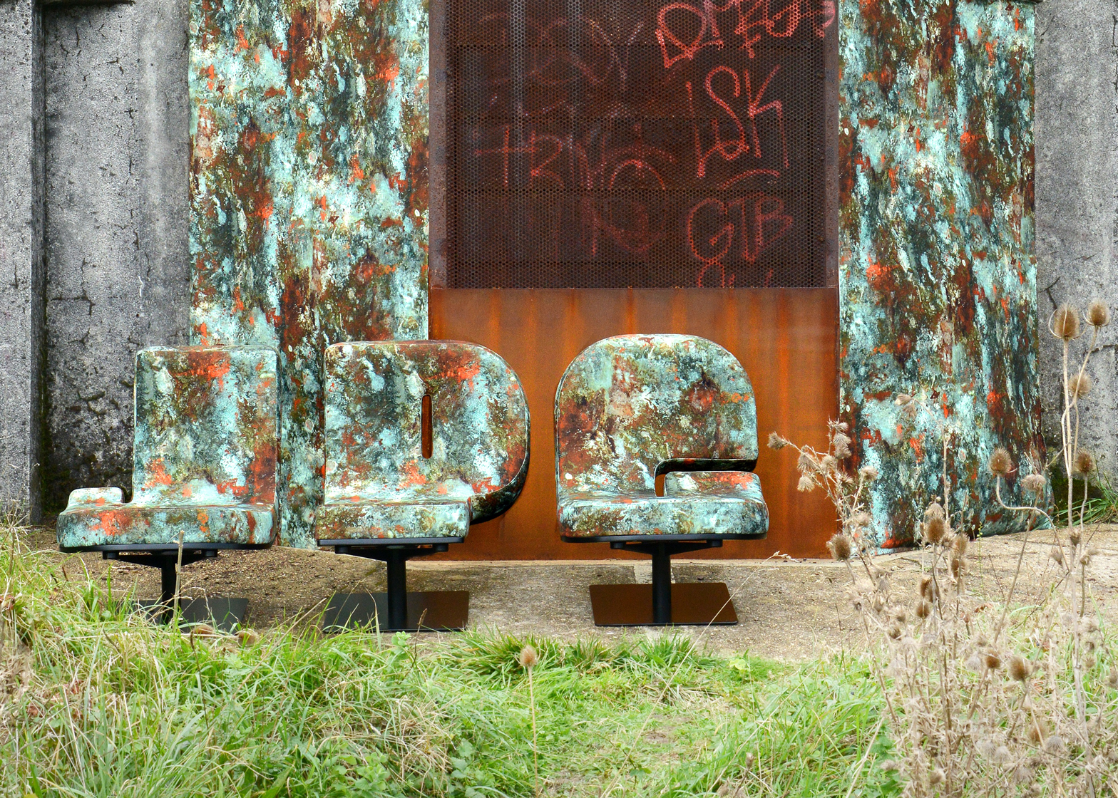 High Quality Jean Paul Gaultier Customises Typographia Chairs By Tabisso With  Rust Patterned Upholstery Design