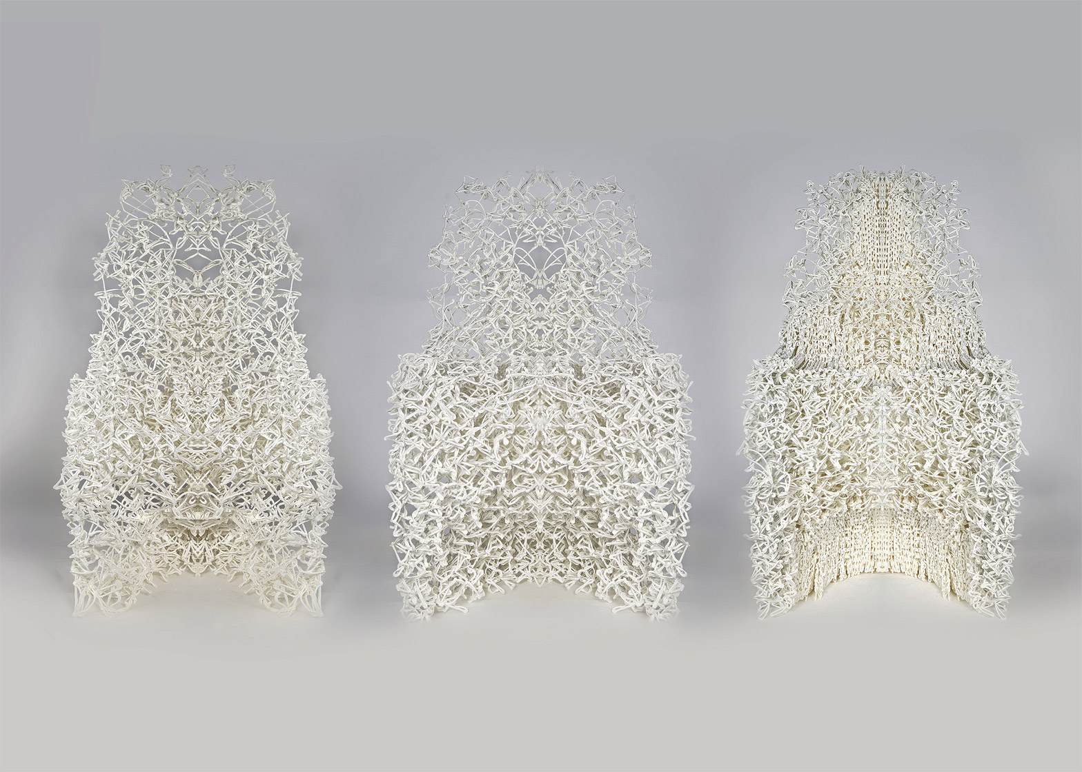 3D-printed chair by The Barlett UCL students