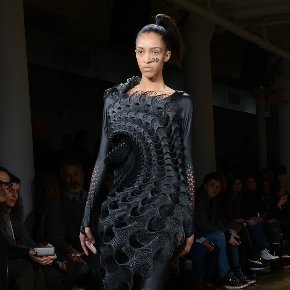 Fashion label Threeasfour unveils two 3D-printed dresses for Biomimicry collection