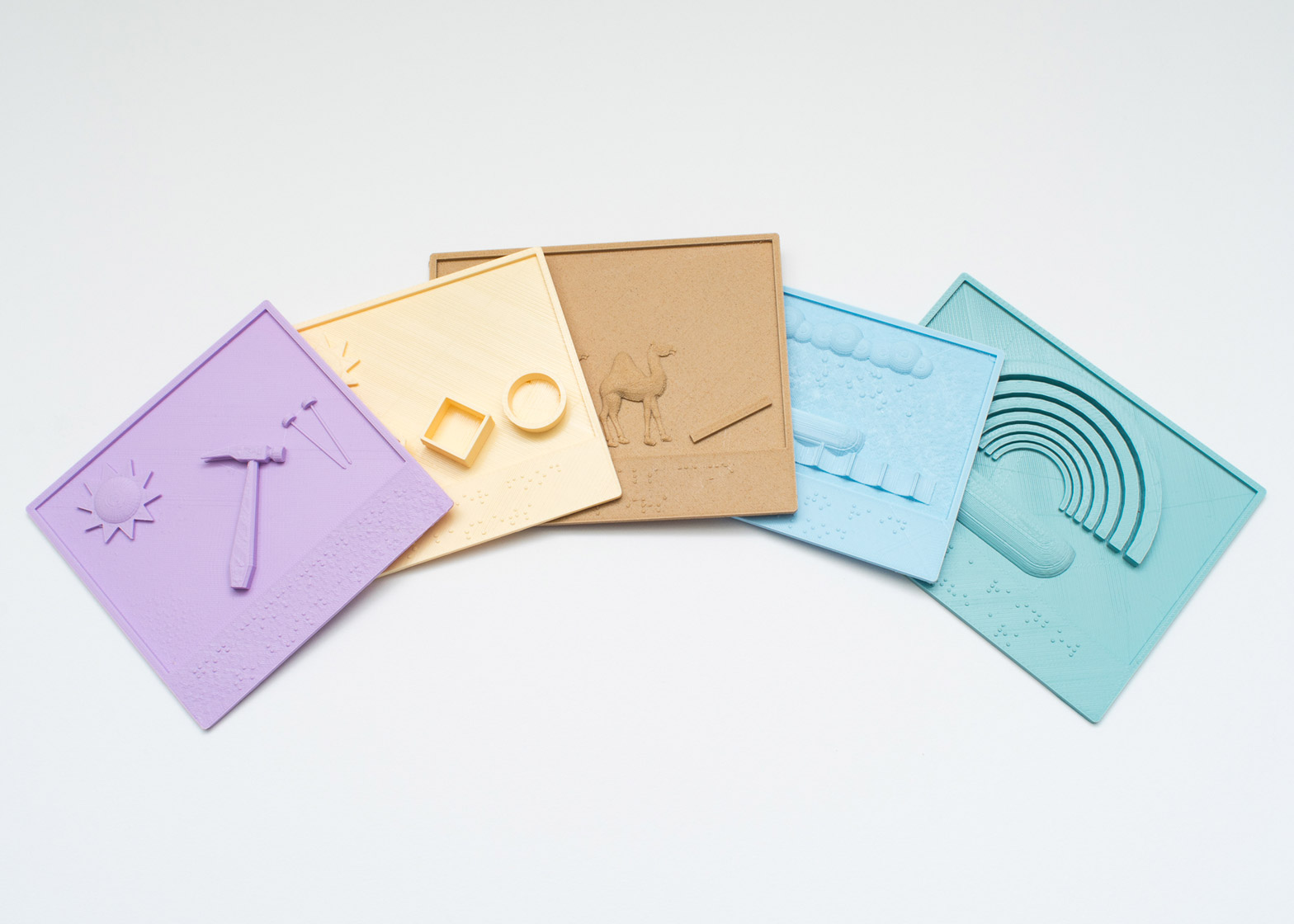 3D printed books by Tactile Picture Books