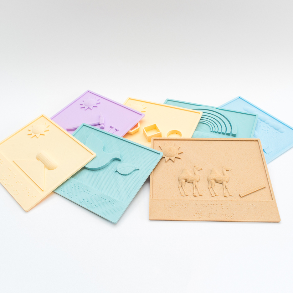 3D-printed braille and picture books help blind children to read
