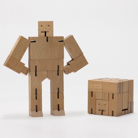 "David Weeks' folding wooden Cubebot toy ""has a life of its own"" on Instagram"