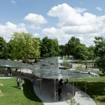 "SANAA's reflective Serpentine Gallery Pavilion 2009 ""merged into the landscape"""