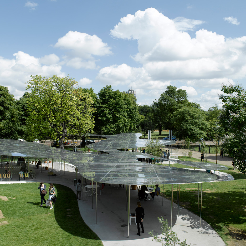 Serpentine Gallery Pavilion 2009 by Kazuyo Sejima and Ryue Nishizawa of SANAA