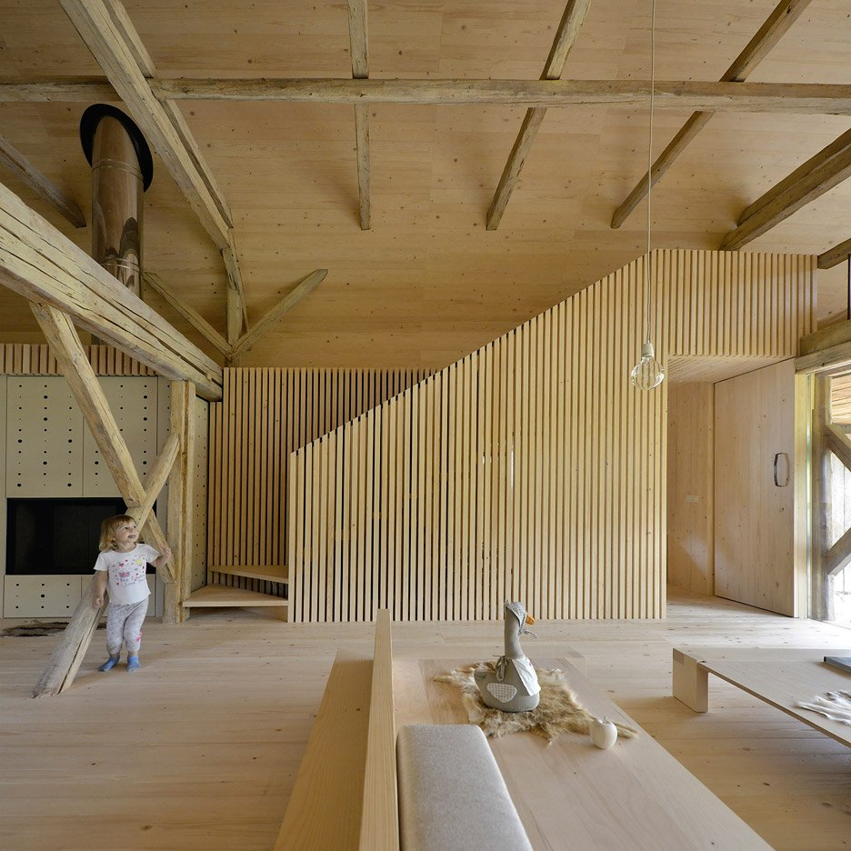 Studio Carniolus film shows OFIS Arhitekti's Alpine Barn Apartment in Slovenia