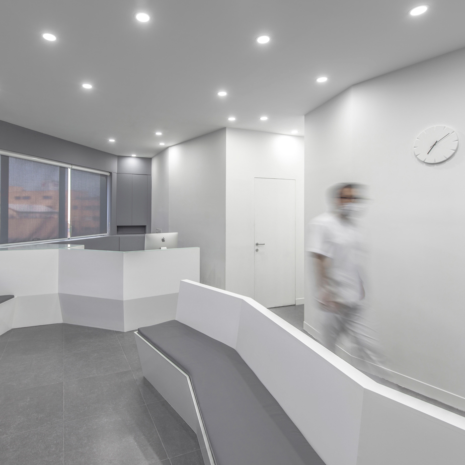 Beau Ayeneh Office Creates Angled Walls And Minimal Interior For Iranian Dental  Clinic