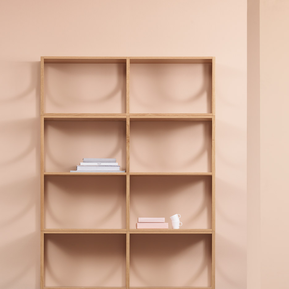 Arch shelves by Note for Fogia