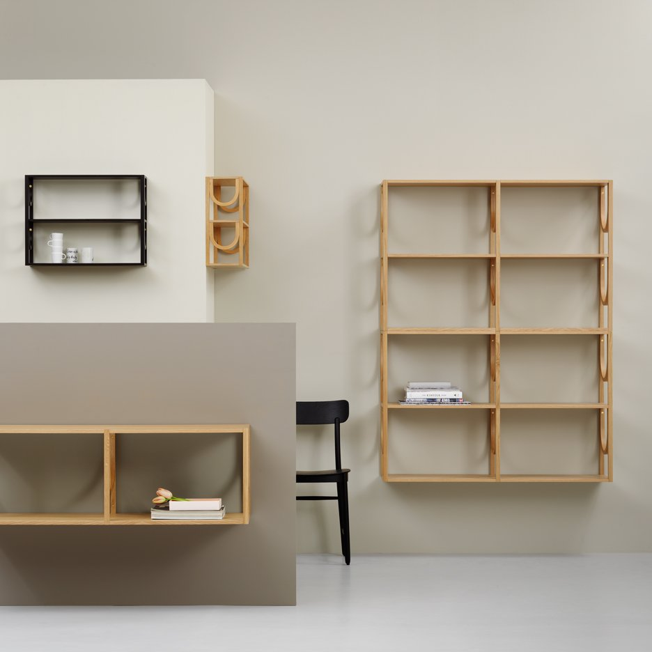 Note Design Studio launches Arch modular shelving system for Fogia