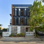 Folding steel shutters reveal interior of BetweenSpaces' Bangalore architecture studio