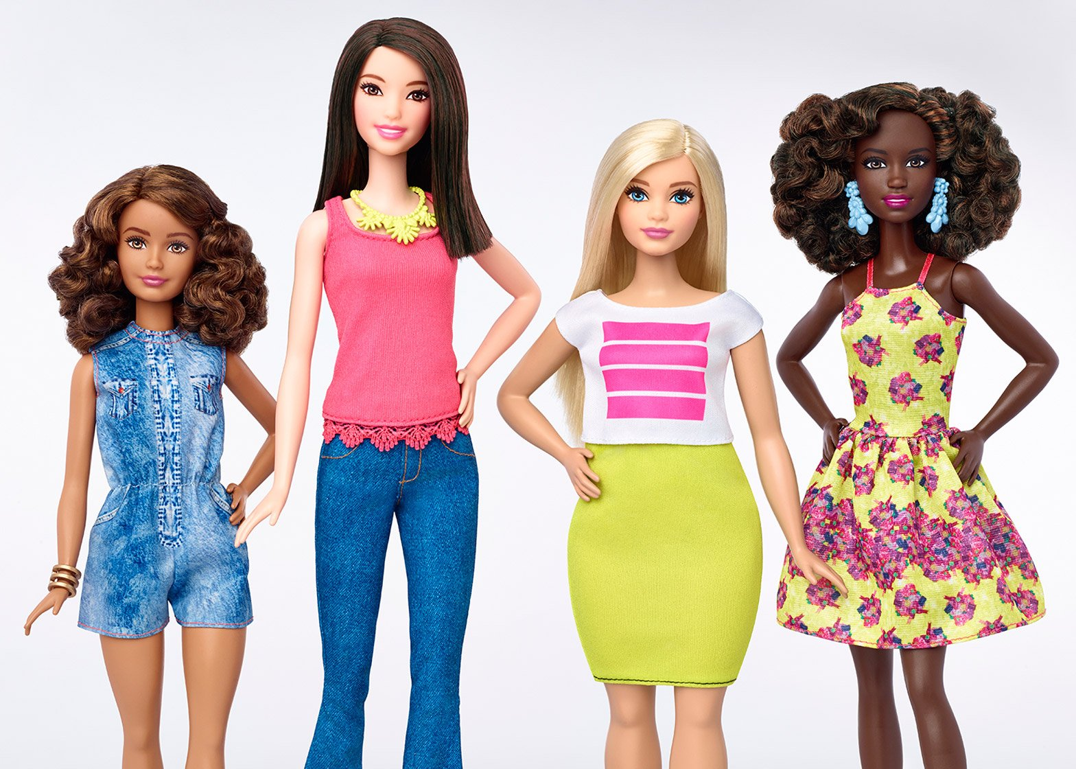Barbie dolls now available in four body types