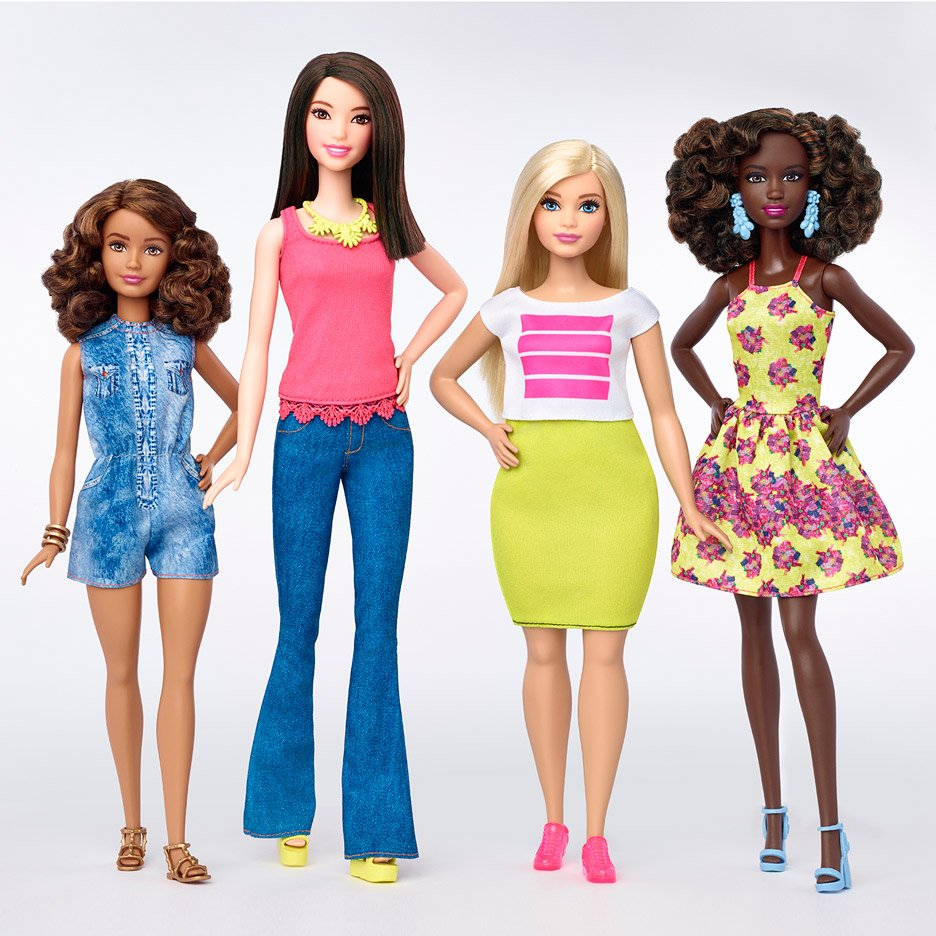 Barbie redesigned to include more body types and skin tones