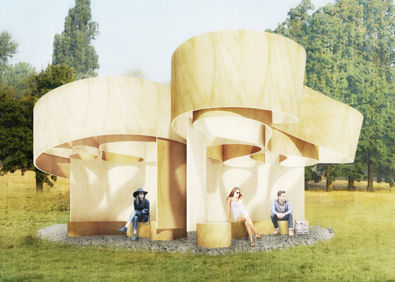 Superb Serpentine Summer Houses Include An Inverted Replica Building Largest Home Design Picture Inspirations Pitcheantrous
