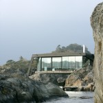 Lund Hagem completes stilted summer house on Norwegian island