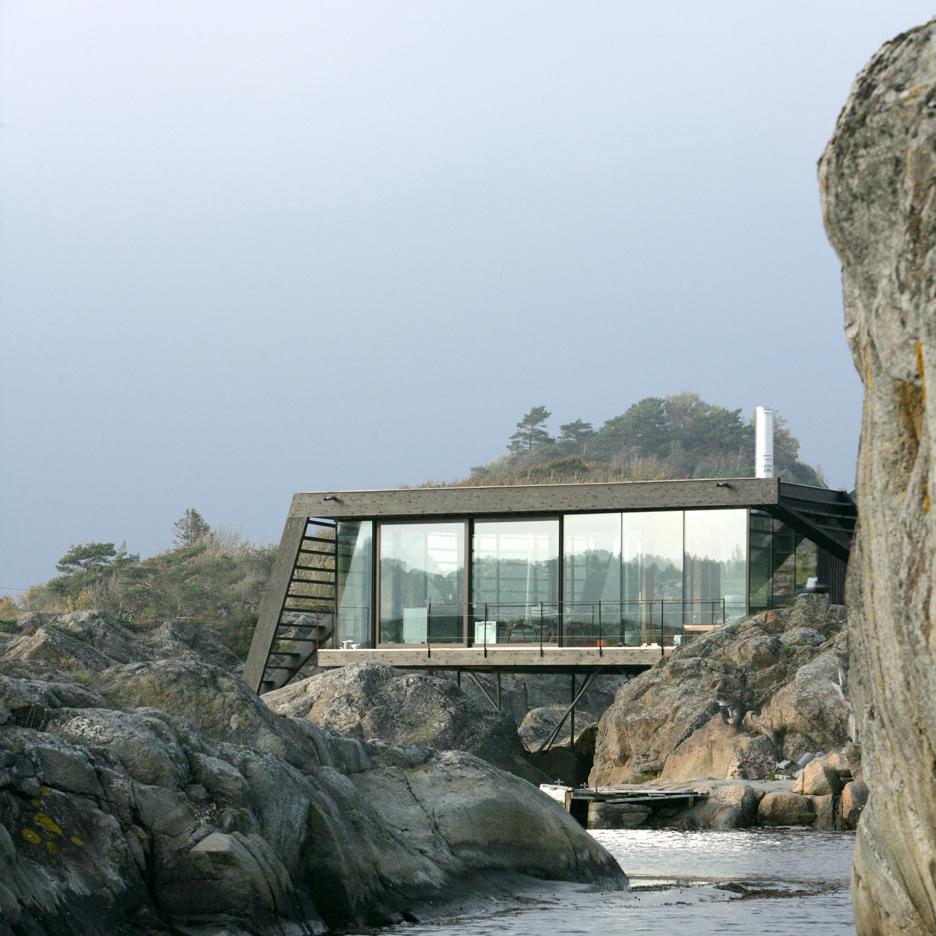 Lund Hagem completes stilted summer house on Norwegian island