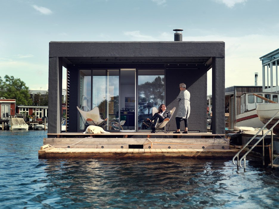 houseboat by laust n rgaard floats in copenhagen harbour rh dezeen com