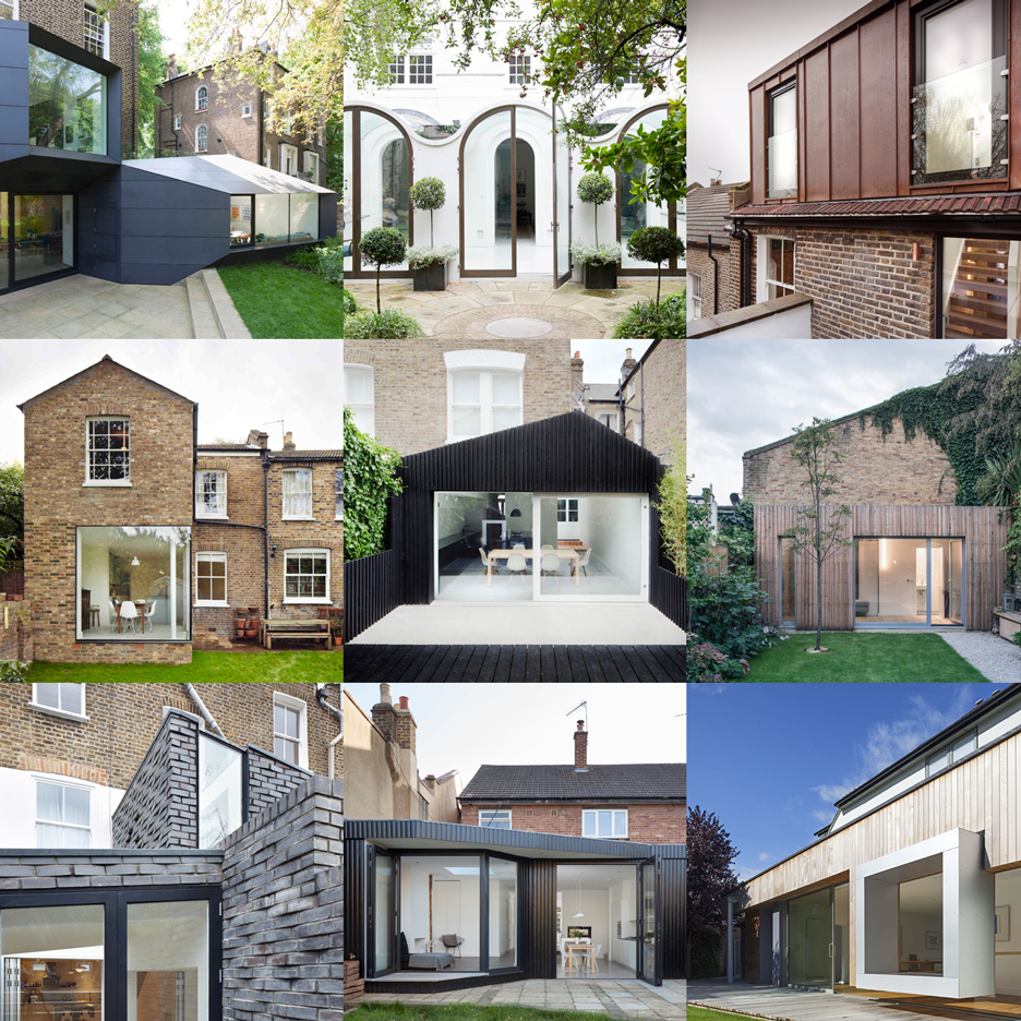 London residential extensions feature on Dezeen's new Pinterest board