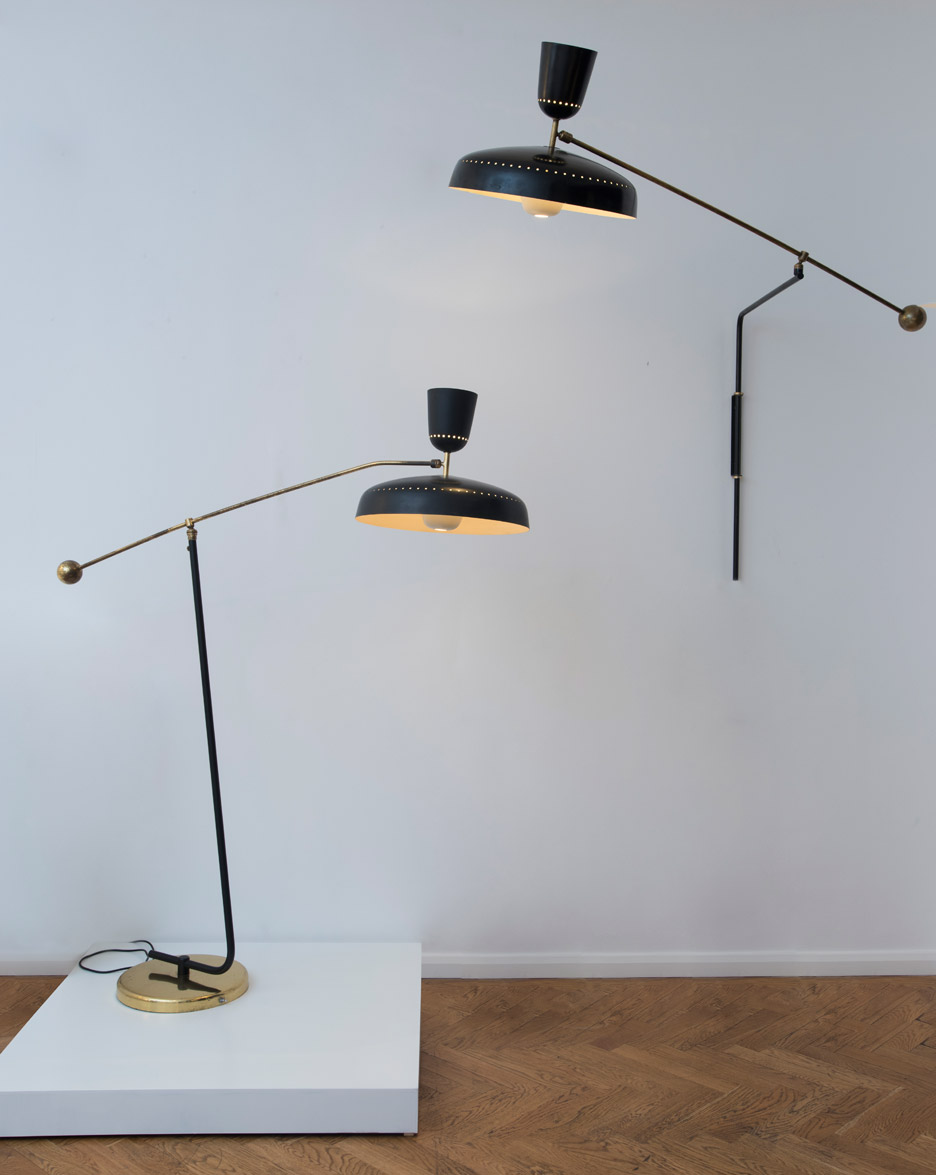 englightened-50s-exhibition-galerie-kreo-pierre guariche g1 sp wall floor light_dezeen_936_4