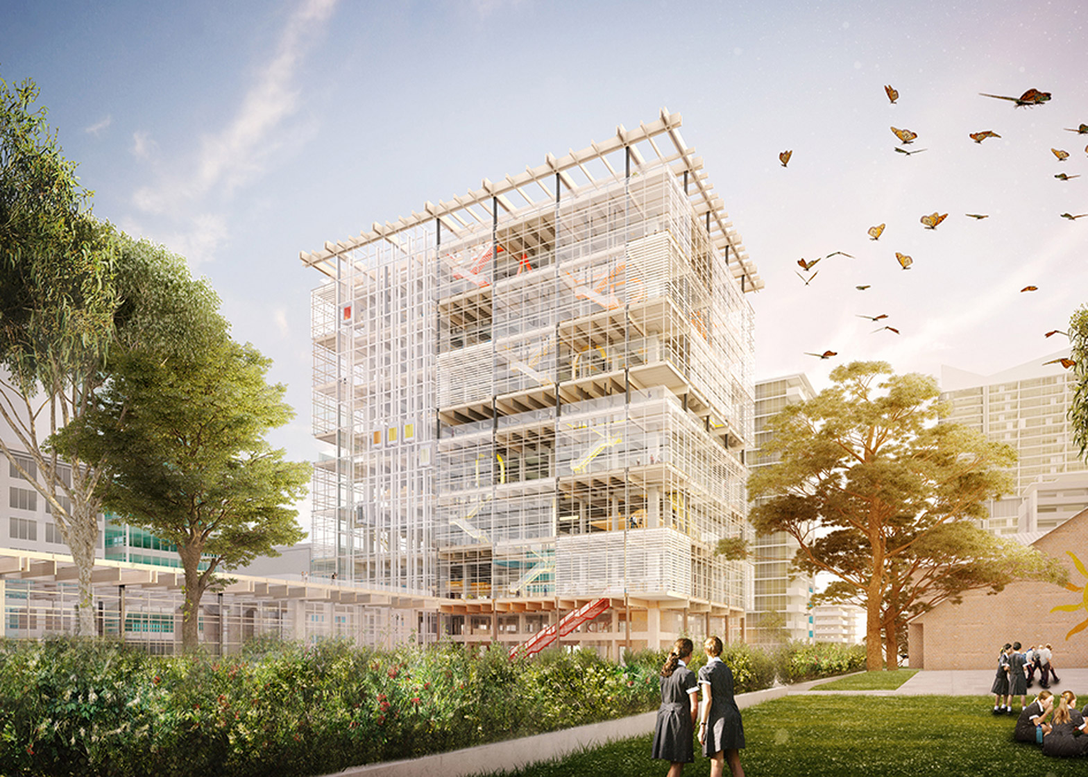 Grimshaw unveils plans for high rise school complex in sydney