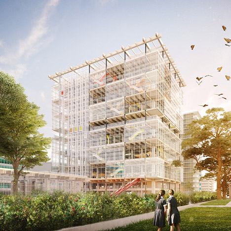 Grimshaw's new plans for high-rise school complex on Sydney's outskirts