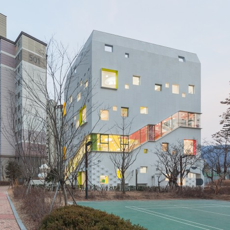 Flower Kindergarten by Jungmin Nam features curvy classrooms and colourful corridors