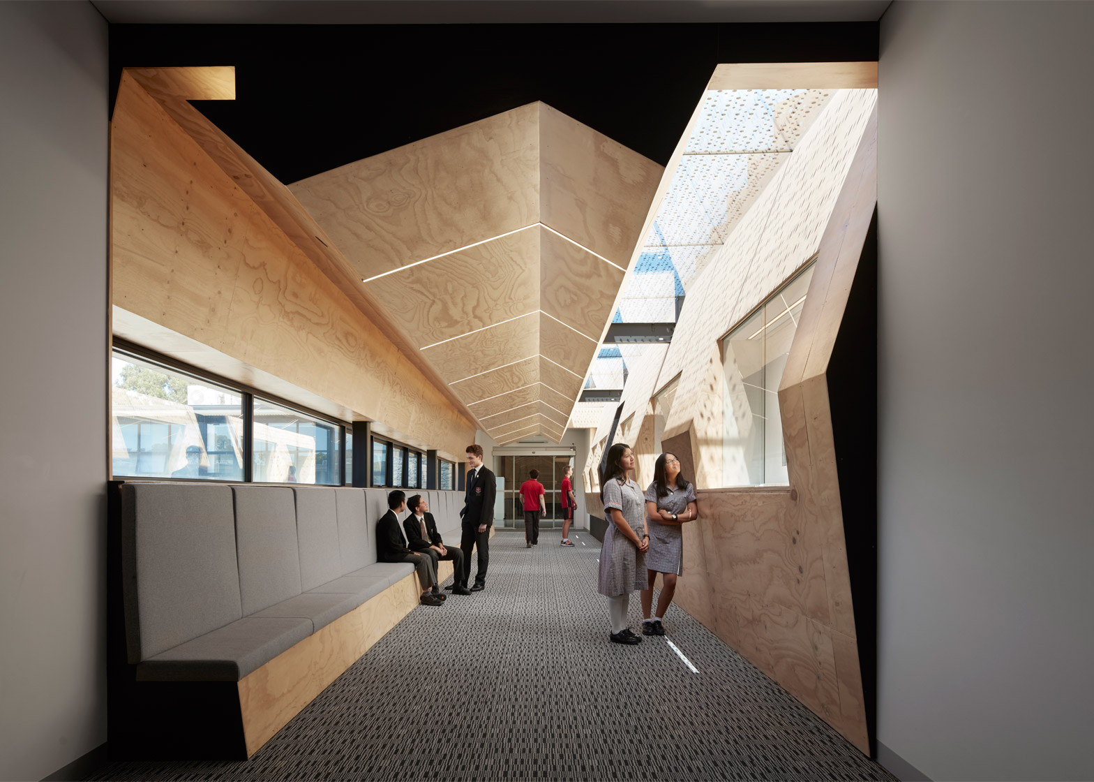 Flyover Gallery in Caroline Chisholm College by Branch Studio Architects
