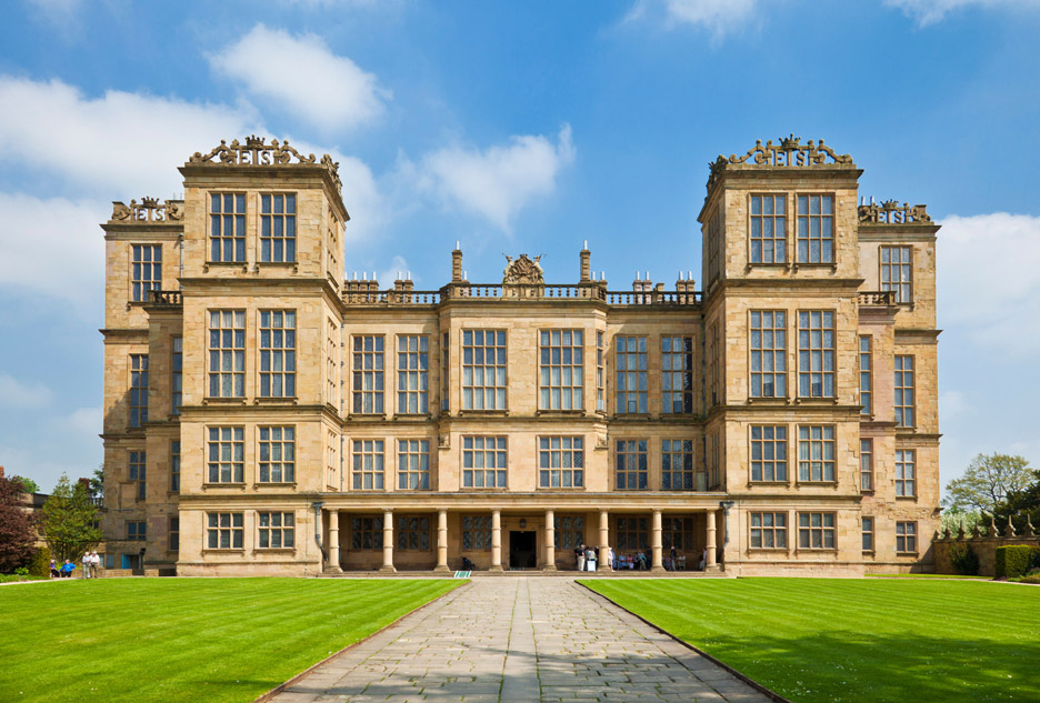 Hardwick Hall, Derbyshire, 1590-97, by Robert Smythson. Photograph by Eye35, Alamy Stock Photo