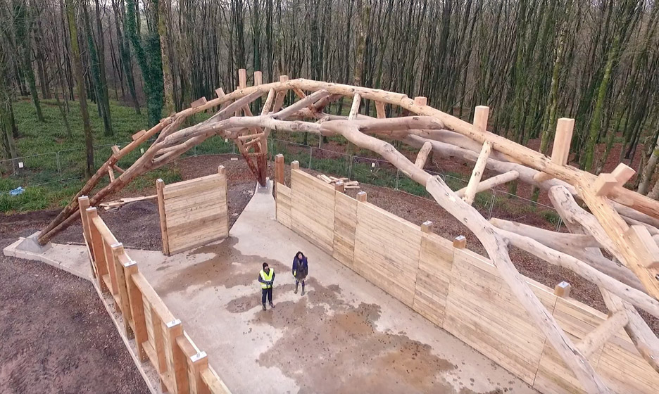 Hooke Park Woodchip Barn by AA students