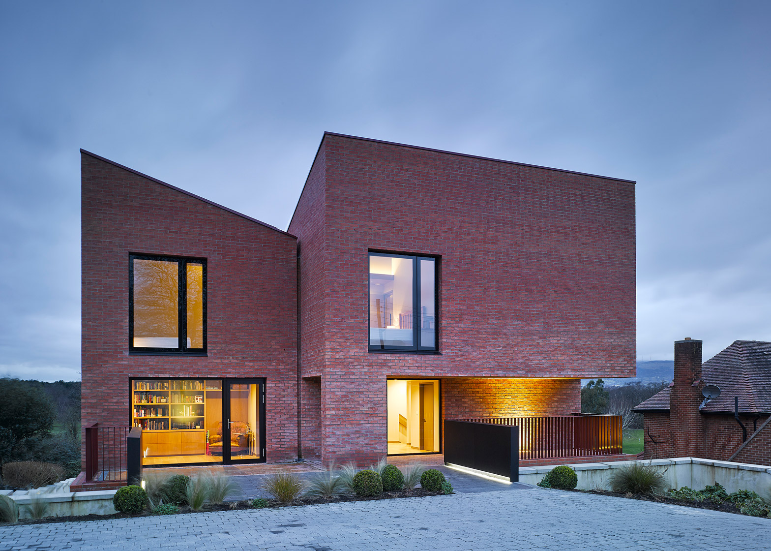 ^ Hall McKnight's hurch oad house is three brick blocks