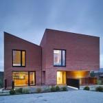 Hall McKnight's Church Road house is made up of three brick blocks