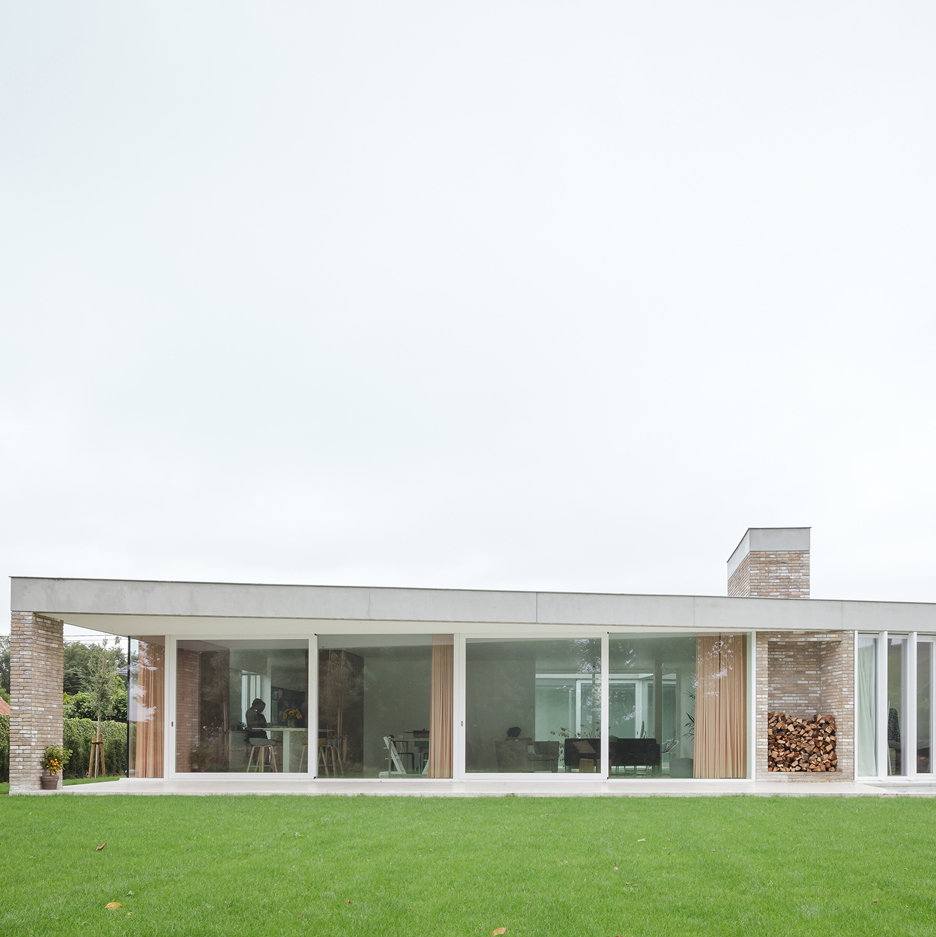 Wim Heylen's brick and concrete bungalow references traditional countryside cottages