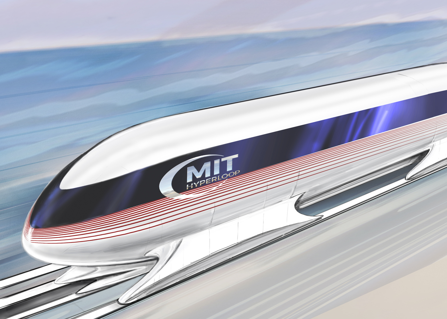 Hyperloop pod by MIT students