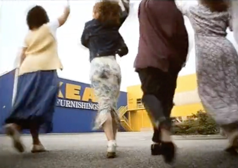 "Ikea's 1996 ad campaign ""Chuck out your chintz"""