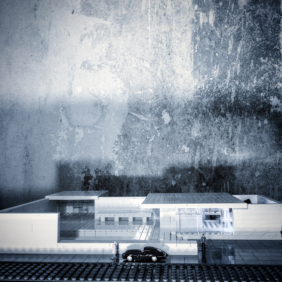Arndt Schlaudraff constructed a model of Mies van der Rohe's 1929 Barcelona Pavilion for lego_tonic