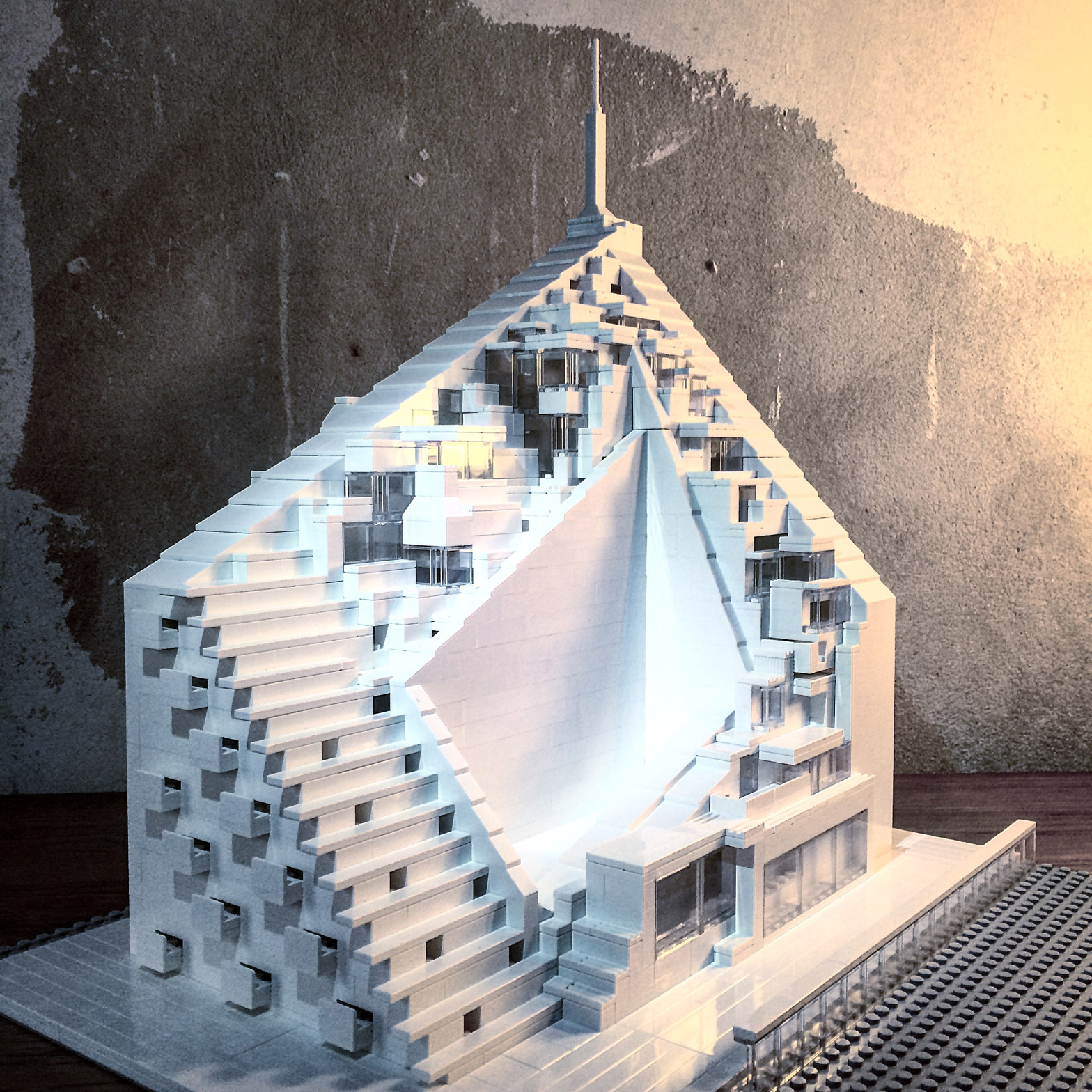 Arndt Schlaudraff recreates Brutalist buildings from Lego