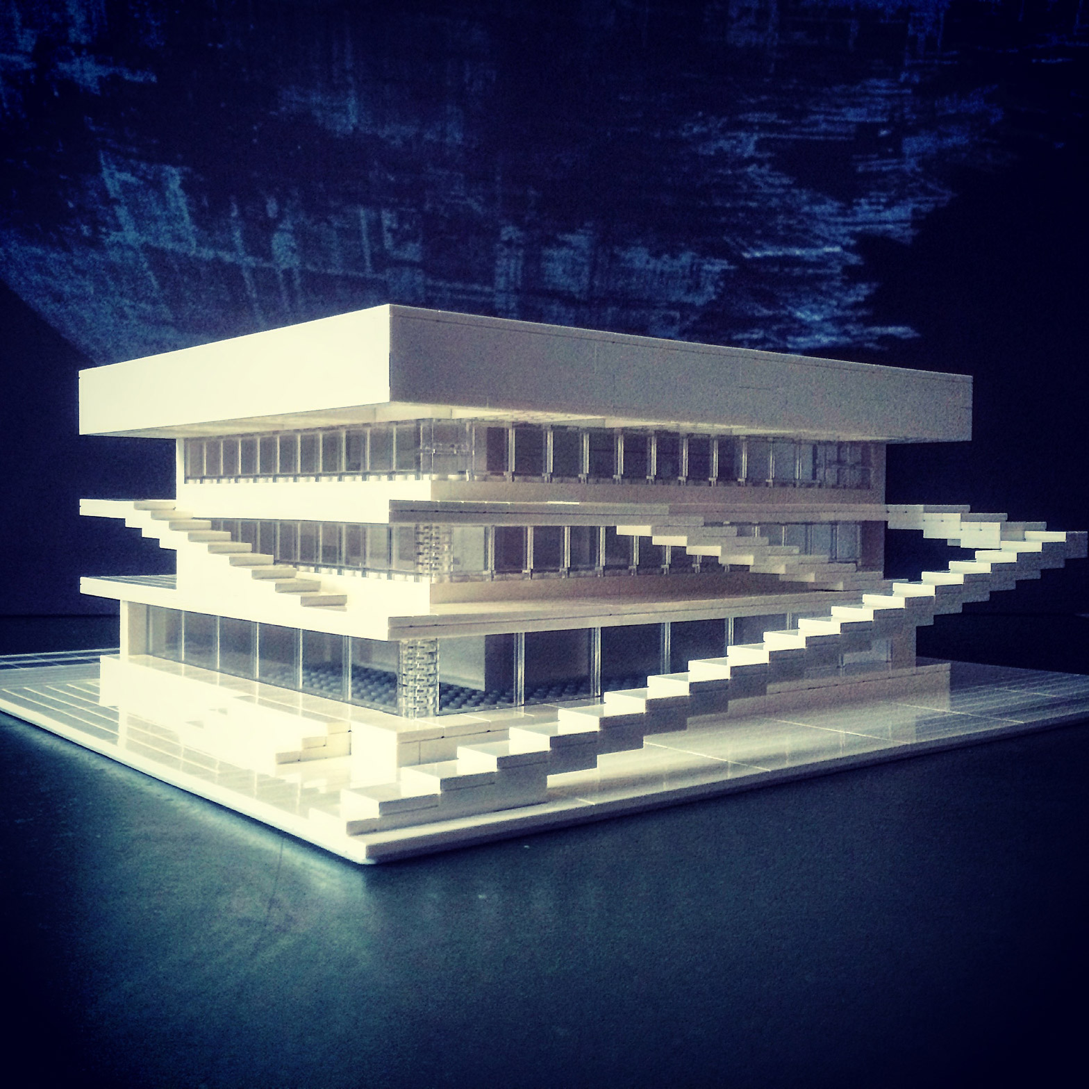 Arndt Schlaudraff recreates Brutalist buildings from Lego for Instagram