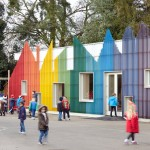 School dining hall by De Rosee Sa and PMR recreates Fantastic Mr Fox's underground village