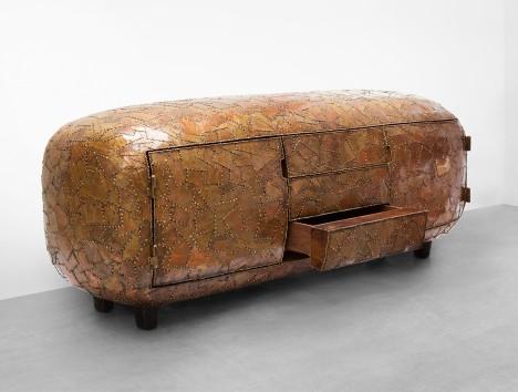 Maarten Baas exhibits Carapace collection at Carpenters Workshop Gallery