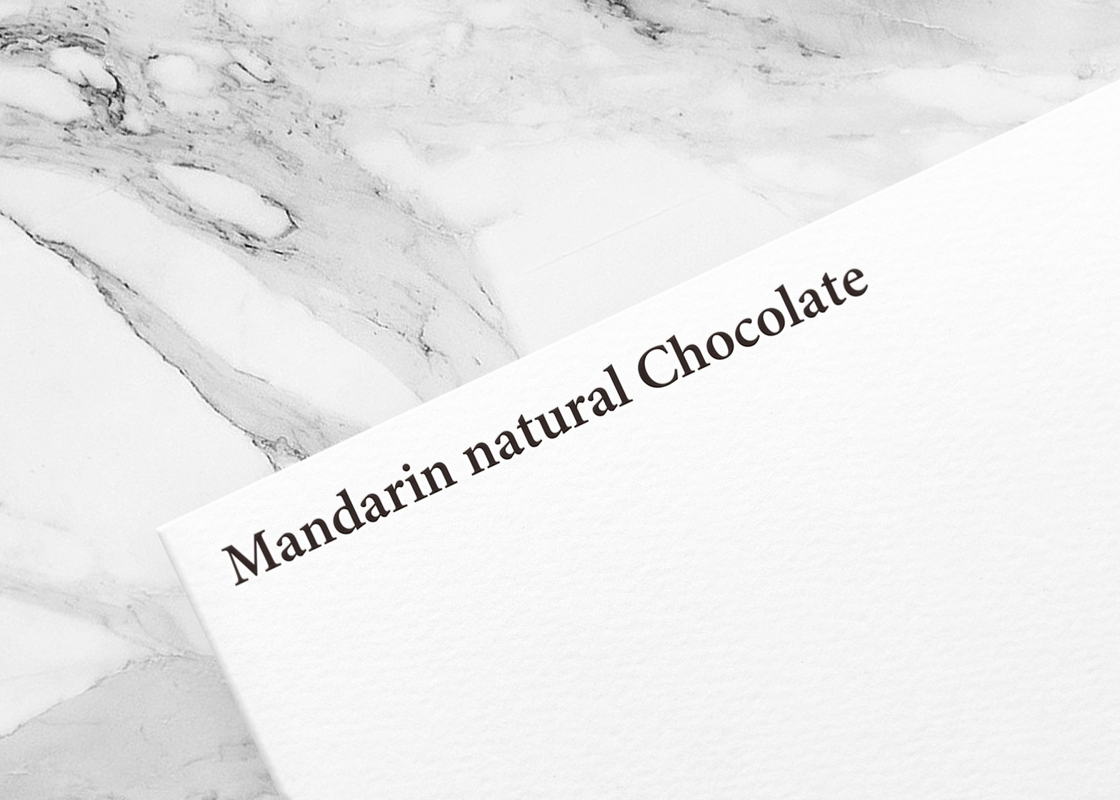 Mandarin natural chocolate by Yuta Takahashi