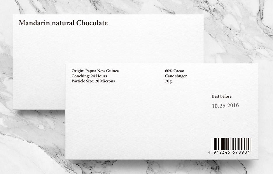 Mandarin natural chocolate by Yuta Takahashi