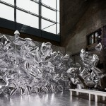 "Bureau Betak uses silver balloons as backdrop for Mary Katrantzou's ""prom night""  fashion show"