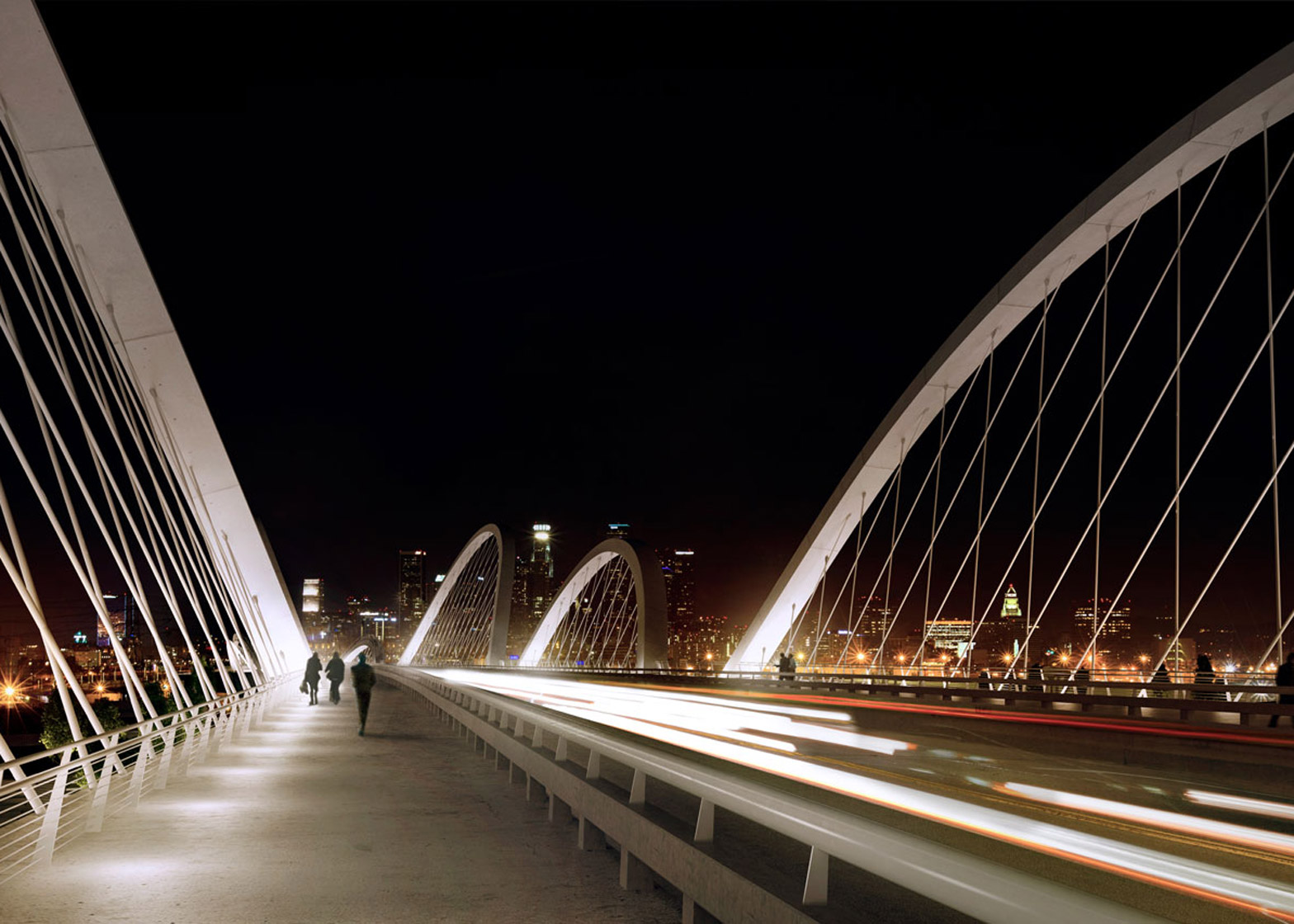 Ribbon of Light bridge by Michael Maltzan