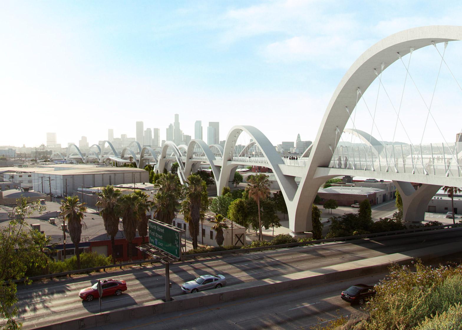 Michael Maltzans Ribbon Of Light Bridge To Break Ground In LA - Designer builds a secret studio beneath a busy bridge in valencia