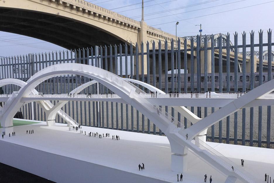 Ribbon of Light bridge by Michael Maltzan