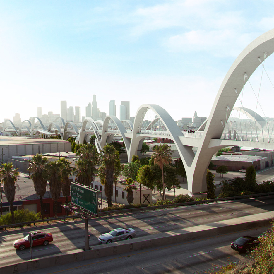 Michael Maltzan's Ribbon of Light Bridge to break ground in Los Angeles