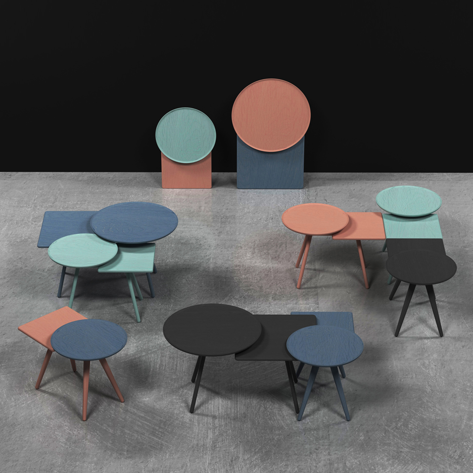 Markus Johansson's Mopsy furniture features double tabletops