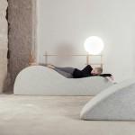 Nap Bar in Dubai invites visitors to sleep on soft pebble-shaped seats